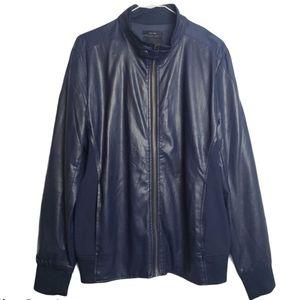 Zara Man Bomber Jacket in Navy
